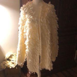 Roamans shaggy loop sweater off white